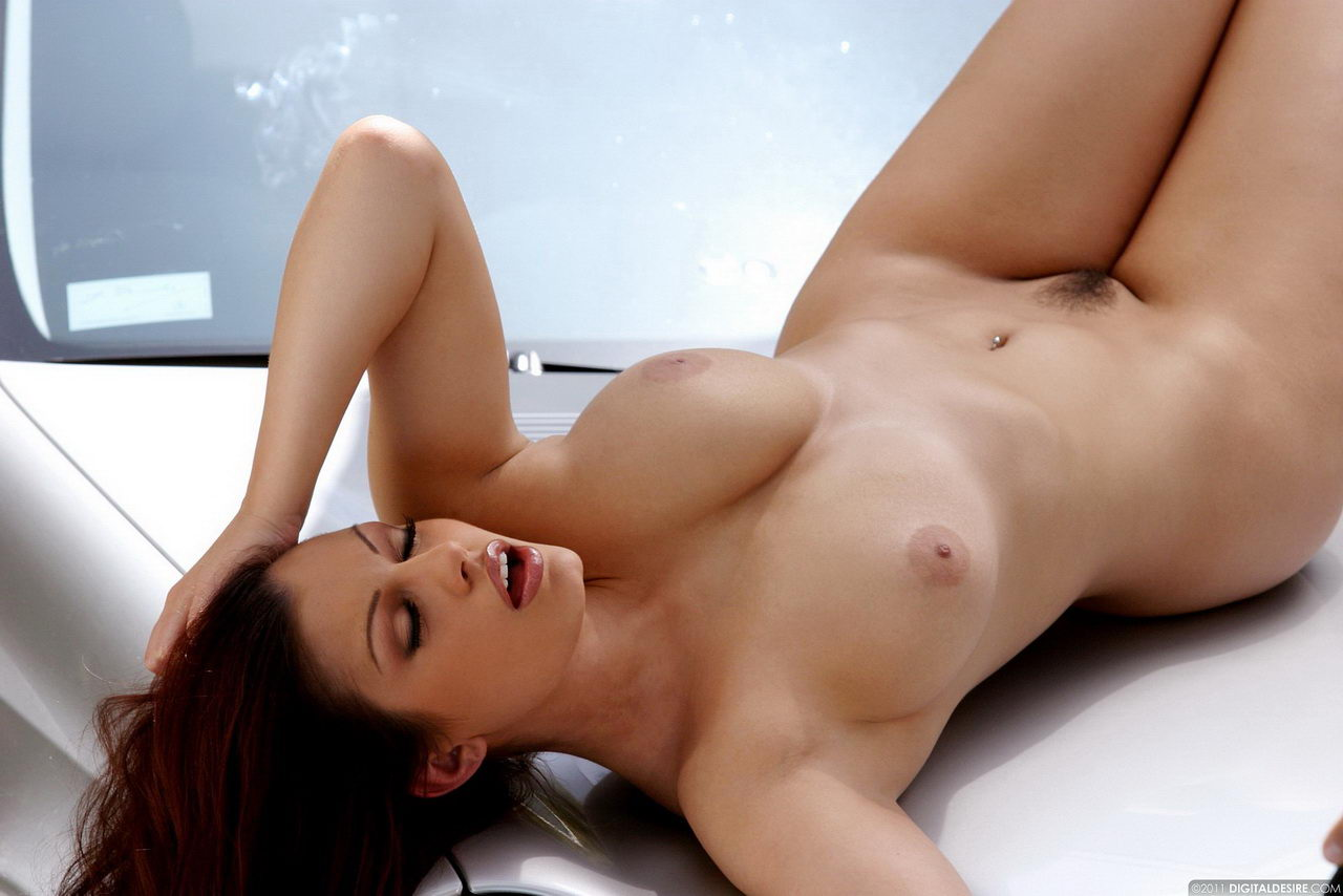 Aria Giovanni Porn Pictures car babes: aria giovanni gets nude on top of silver mercedes